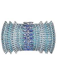 Fawziya Purse With Bucket Shaped Rhinestone Crystal Clutch Evening Bag