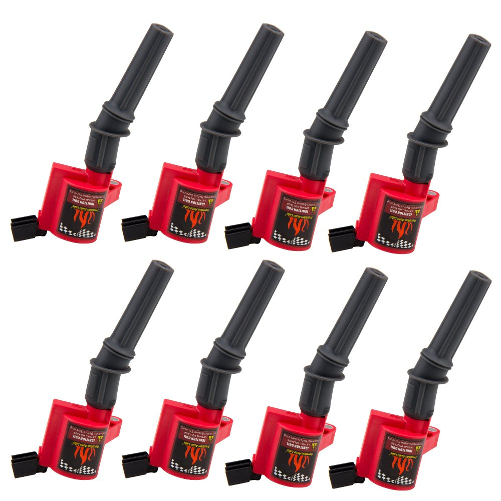 High Performance Ignition Coil Set of 8 for Ford Lincoln Mercury 4.6L 5.4L V8 Compatible with DG508 C1454 C1417 FD503 CarBole