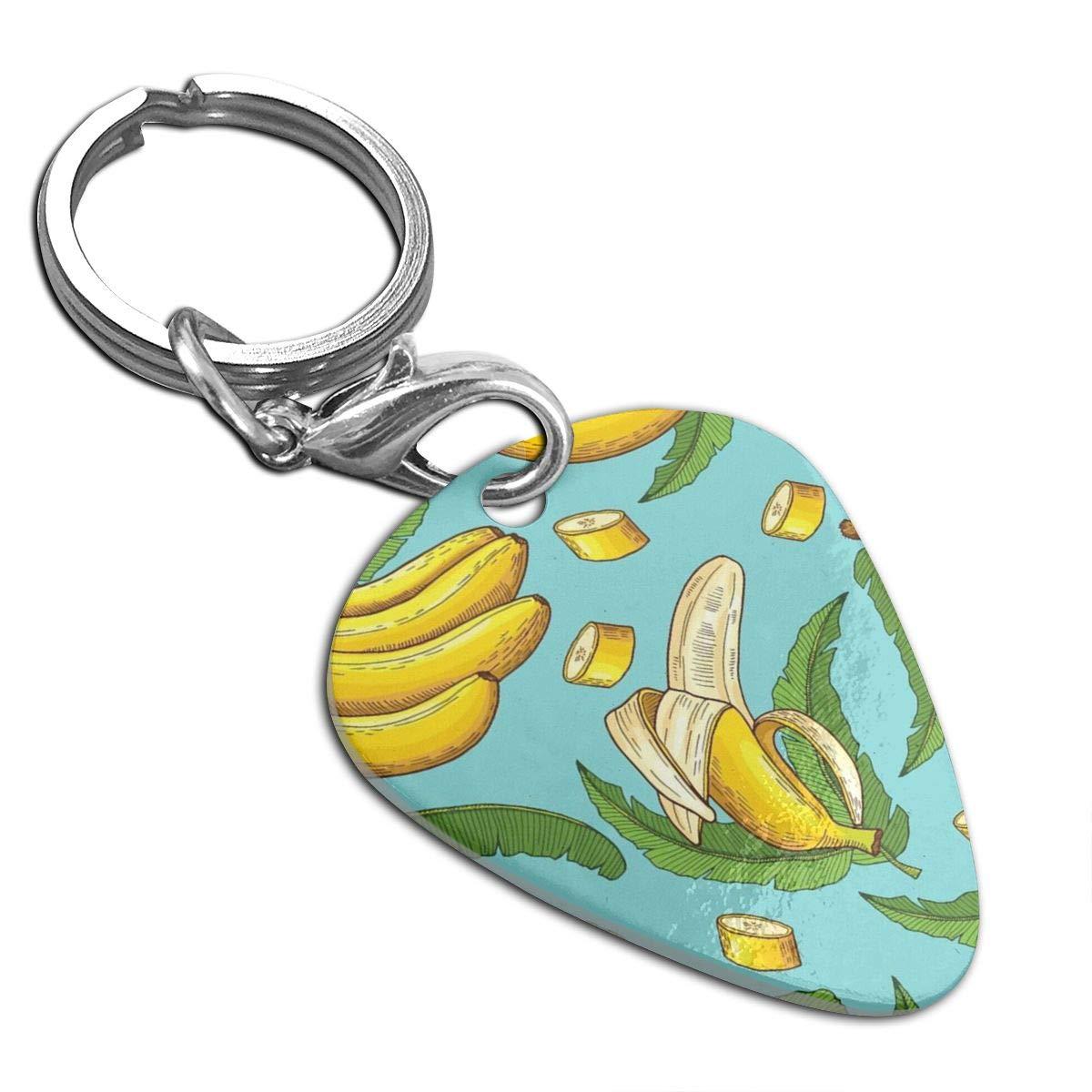 Bananes Guitar Pick Necklace Unique Custom Fashion Pet Card Keychain