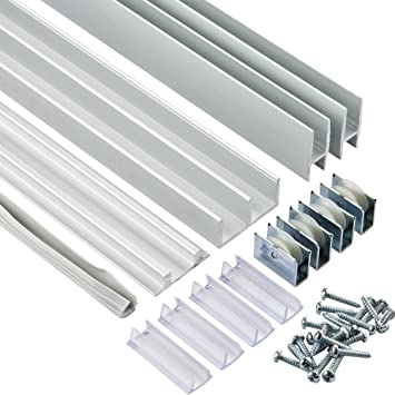 3//4 X 4 Aluminum Sliding Door Track