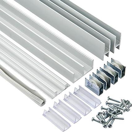 3 ft  Aluminum EZ Glide Tracks (Price per set)