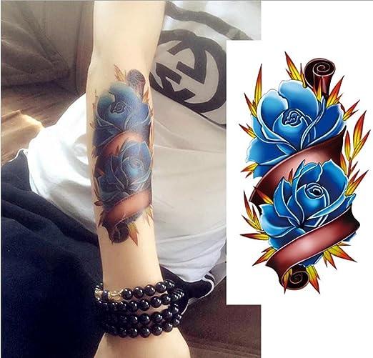 GYMNLJY Etiquetas engomadas del tatuaje Moda del tatuaje de rosa ...