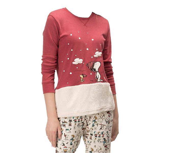 Pijama SNOOPY Mujer GISELA Burdeos (S)