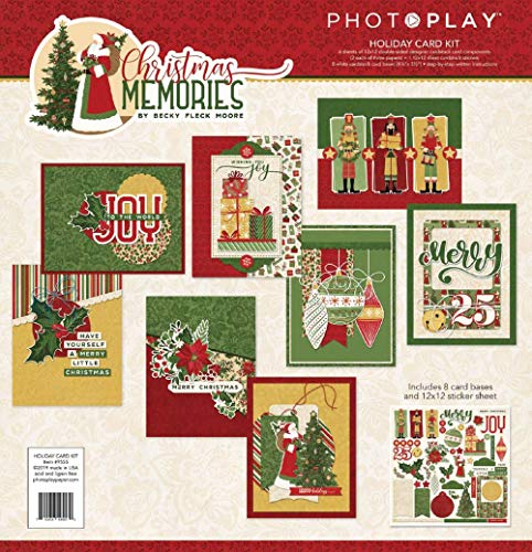 Christmas Card Making Kits (Photoplay Paper CMR9555 PhotoPlay Collection Card Kit-Christmas)