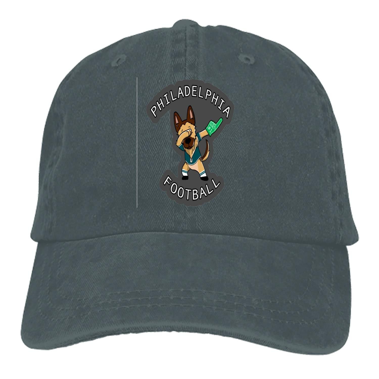 SHUANGRENDE Philadelphia Football Adjustable Casual Cool Baseball Cap Retro Cowboy Hat Cotton Dyed Caps