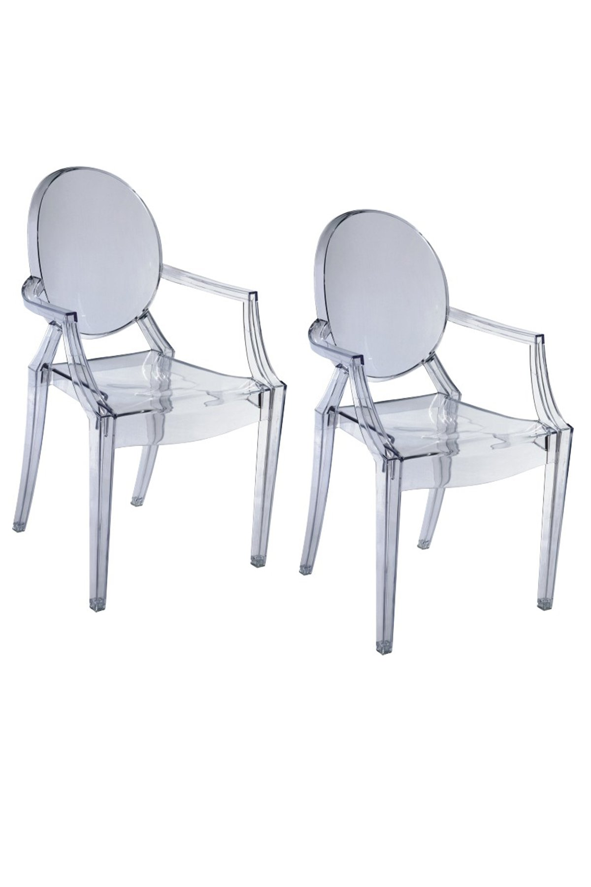Pangea Home Children Bugatti Dining Chair, Clear, Set of 2