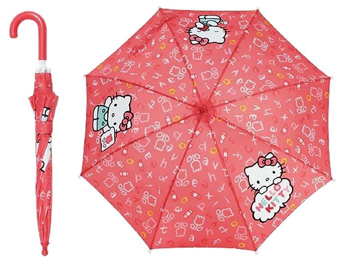 Hello Kitty Paraguas estampado letras y dibujos niño Niña rosa oscuro Diámetro 80 cm