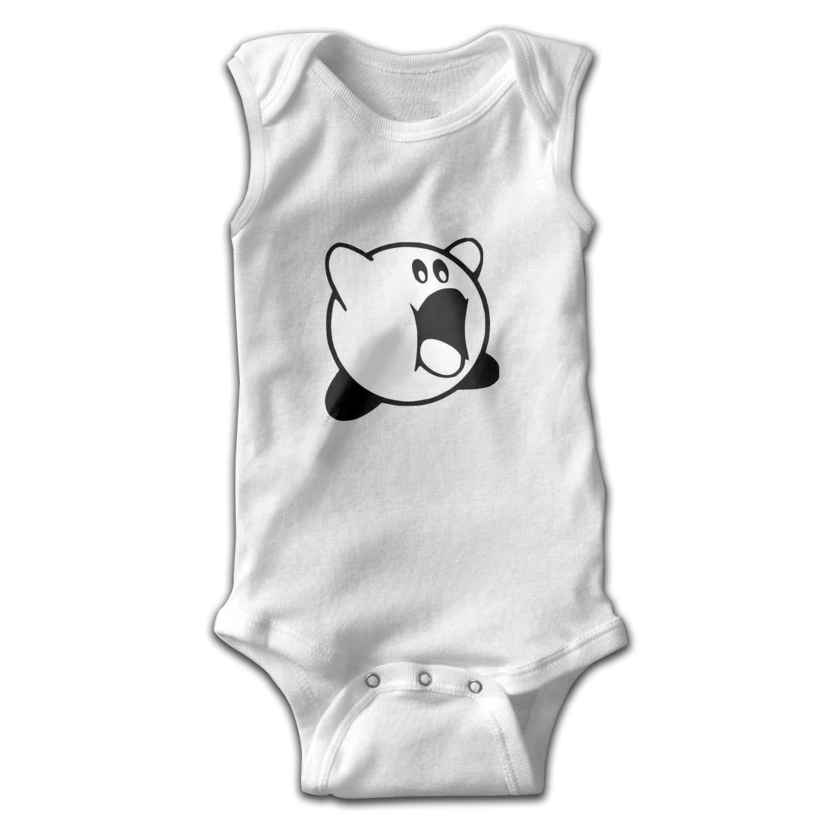 Dfenere Eating Newborn Baby No Sleeve Bodysuit Romper Infant Summer Clothing Black