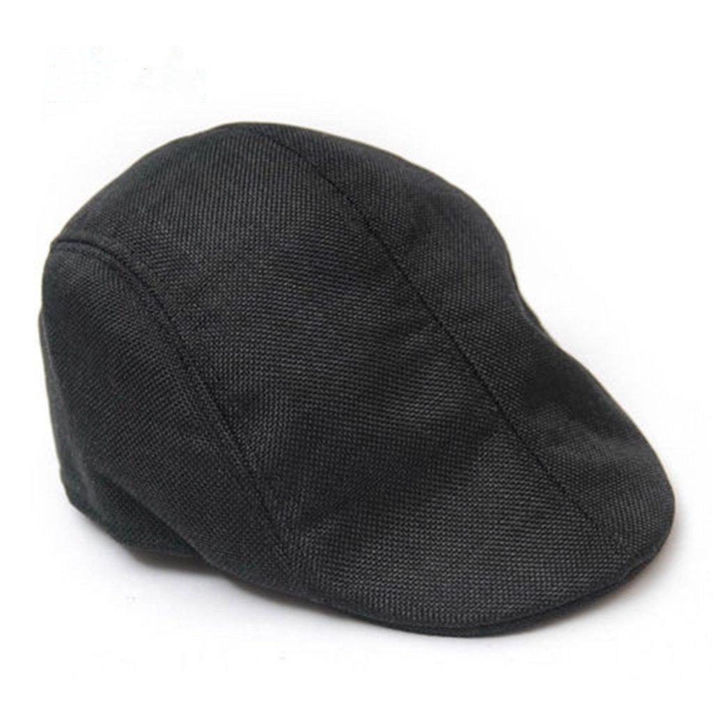 Linen Beret Cap Cool Newsboy Cap Flat Sun Hat for Travel Beach Seaside Natural Fabric