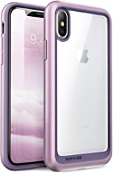 SUPCASE SUP-iPhone8-UBStyle-Purple iPhone X Case, Unicorn Beetle Style Premium Hybrid Protective Clear Case for Apple iPhone X / iPhone 10 2017 Release (Purple)