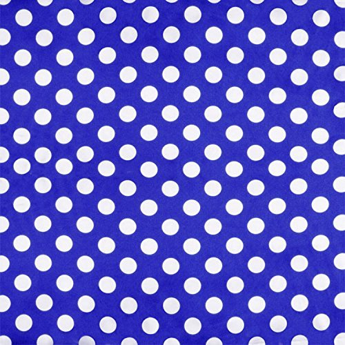 Polka Dot Dress Fabric (Royal Blue Polka Dot Charmeuse - By the)