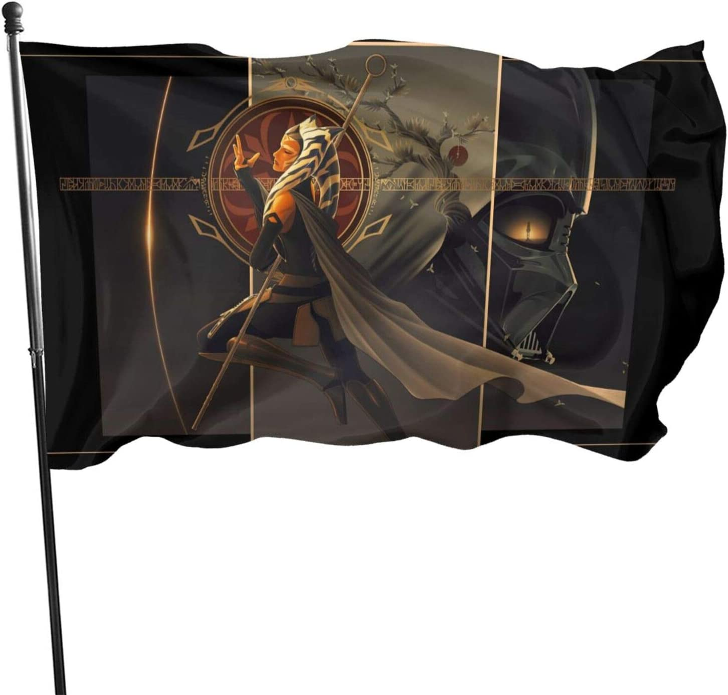 LHLYDFGG A-hsoka T-ano Darth Vader Flag Decorative Outdoors Hanging Flags Home Garden and Holiday Yard Flag 3 x 5 Ft