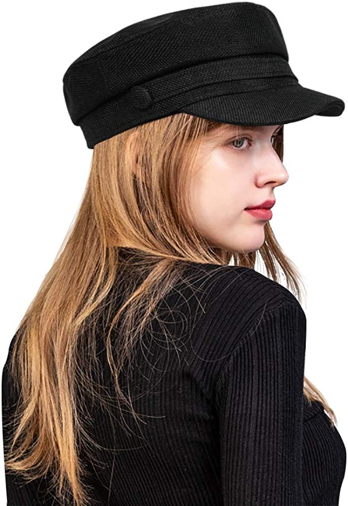 Women Newsboy Cabbie Paperboy Hats Gatsby Vintage Linen Sailor Bakerboy Greek Cap