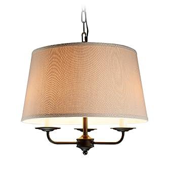 GLJXG Lámpara de techo Araña de hierro Art Garden Comedor ...