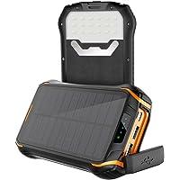 Cargador Solar con 26800mAh Power Bank Portátil, Soluser Batería Externa Impermeable 3 Carga Rápida Output Ports con Alta Eficiencia de Conversión para iPhone, Teléfono Android