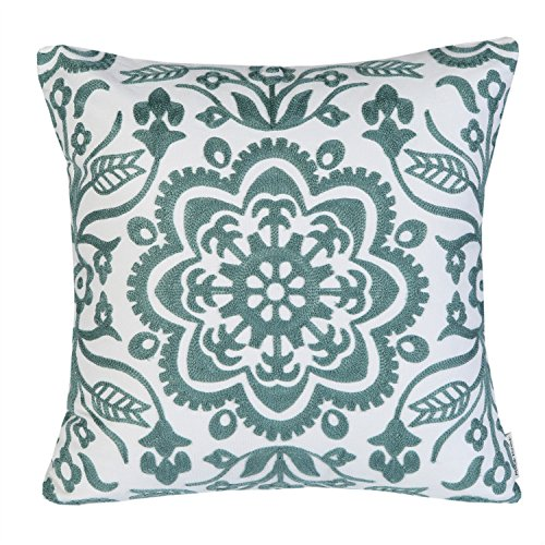 light blue and white throw pillow - 1