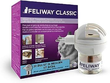Oferta amazon: FELIWAY Classic - Antiestrés para gatos - Marcaje con orina, Miedos, Cambios en el entorno, Arañazos Verticales - Difusor + Recambio 48ml