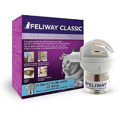 FELIWAY Classic - Antiestrés para gatos - Marcaje con orina, Miedos, Cambios en el entorno, Arañazos Verticales - Difusor + Recambio 48ml