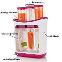 Fresh Squeezed Squeeze Station Baby Weaning Food Puree Reusable Pouches Maker for Baby