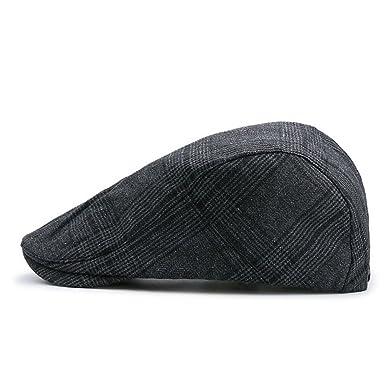 dd4e57b0d8 Emper Mens Flat Cap Outdoors Racing Hat Golf Caps Gents: Amazon.co ...