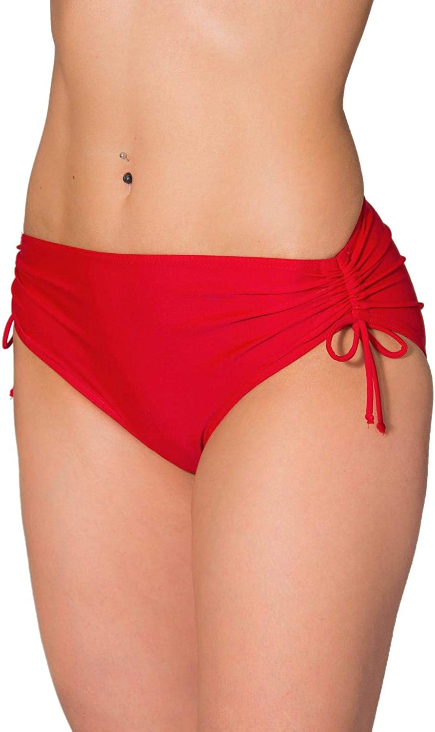 Aquarti Womens Bikini Bottom with Side Drawstrings