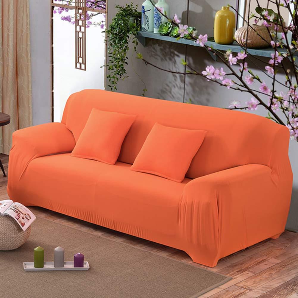 Amazon.com: BERTERI Orange Sofa Cover Stretch Loveseat Couch ...