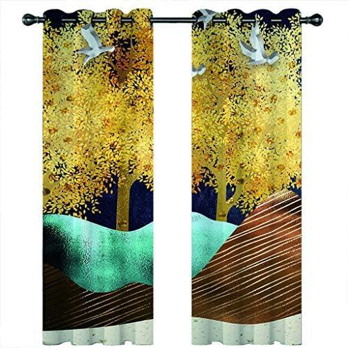 カーテン 遮光カーテン 遮光カーテン、熱絶縁ルーム暗くなるのベッドルームとリビングルーム暗くカーテンベッドルーム3D完成遮光カーテン、 (Color : #8, Size : 264x210cm*2)