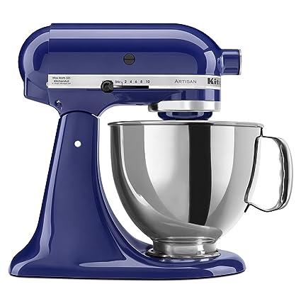 Superb KitchenAid KSM150PSBU Artisan Series 5 Qt. Stand Mixer With Pouring Shield    Cobalt Blue