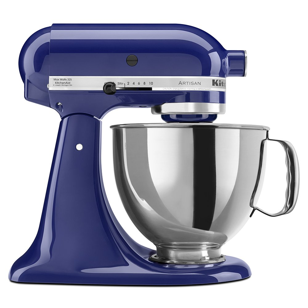 KitchenAid KSM150PSBU Artisan Series 5-Qt. Stand Mixer with Pouring Shield - Cobalt Blue by KitchenAid (Image #1)