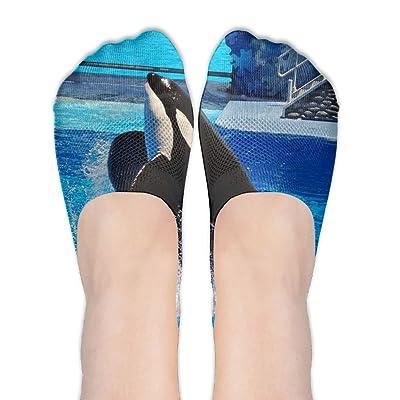 DISXHSH Thin Hidden No Show Liner Tilikum Orca Athletic Running Socks Non Slip Flat Boat Line