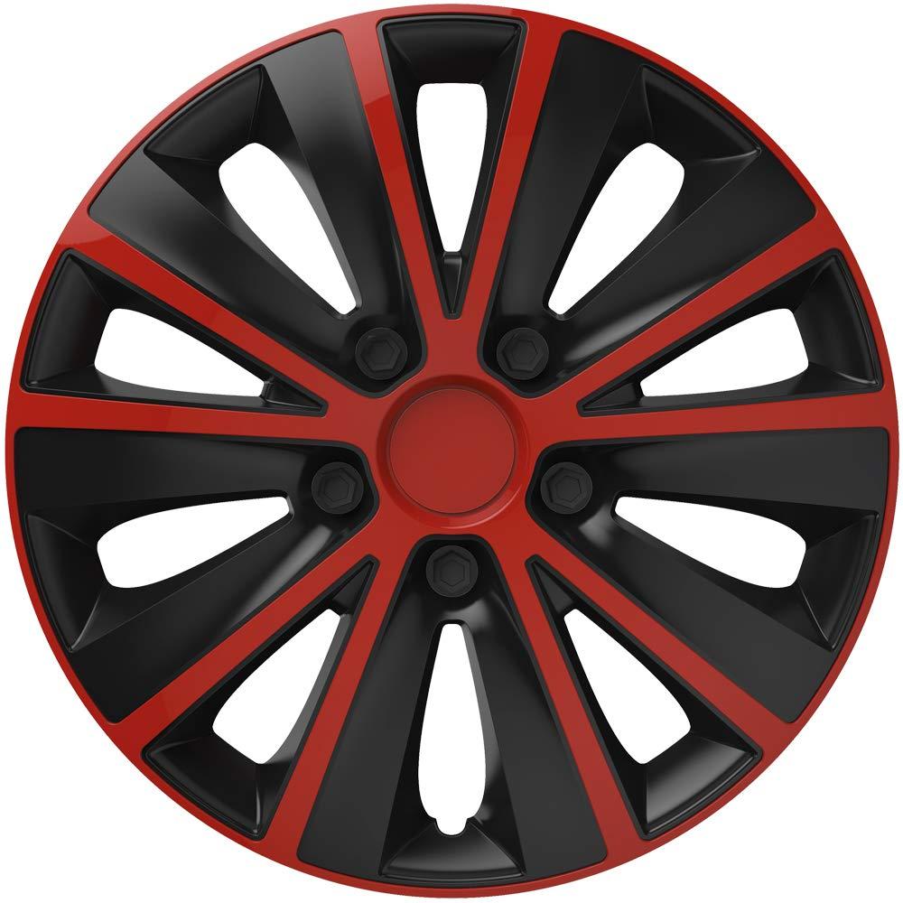 VERSACO Rapiderb15 Rapide de Jantes Rouge/Noir '38,1 cm –  Lot de 4 –  Ajustement Universel, 38,1 cm, Lot de 4 1cm-Lot de 4-Ajustement Universel