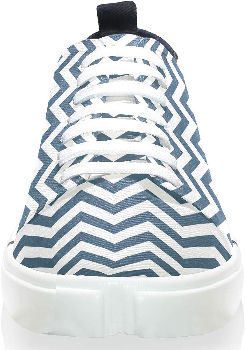 MALPLENA Mens Leisure Shoes Midnight Cream Chevrons Mens Casual Loafers