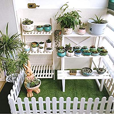 ieve 4 pcs Color blanco Plástico valla árbol de Navidad Surround 4 x longitudes 50 cm=200 cm boda Party en miniatura decoración de casa jardín: Amazon.es: Jardín