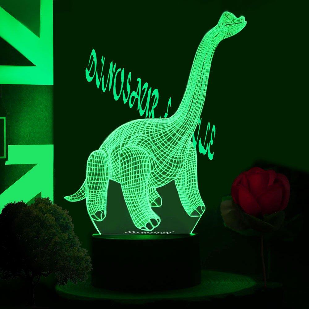 ギフトアイデアナイトライト3dイリュージョンランプ動物ライトLEDデスクランプユニークなギフト赤ちゃんホーム装飾オフィス寝室ウェディングパーティーデコレーション子供部屋照明7色 LLAM03 B0791HM36D 14711 Dinosaur 11z Dinosaur 11z