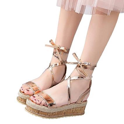 196b7e2ffcea6 Amazon.com: Sandals for Women THENLIAN Roman Cross Straps Shoes ...