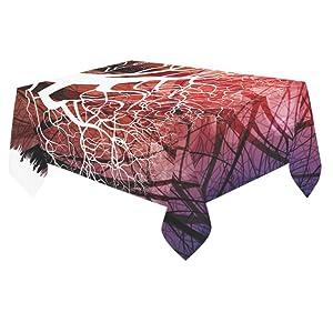 Unique Debora Custom Tablecloth Cover Cotton Linen Cloth Art Tree For Dining Room, Tea Table, Picnics, Parties DT-6