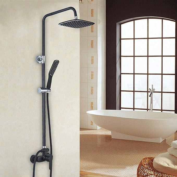 YUNRUX - Sistema de ducha con termostato, alcachofa de ducha con ...