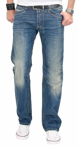 150053cac93 Diesel Vaqueros TIMMEN para Hombre Lavar 0802e Regular Straight Azul  Envejecido Pantalones Chinos Azul Azul XS  Amazon.es  Ropa y accesorios