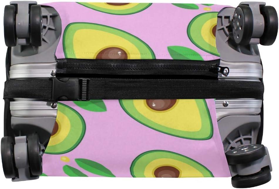 VIKKO Cartoon Avocado Travel Luggage Cover Suitcase Cover Protector Travel Case Bag Protector Elastic Luggage Case Cover Fits 26-28 Inch Luggage for Kids Men Women Travel