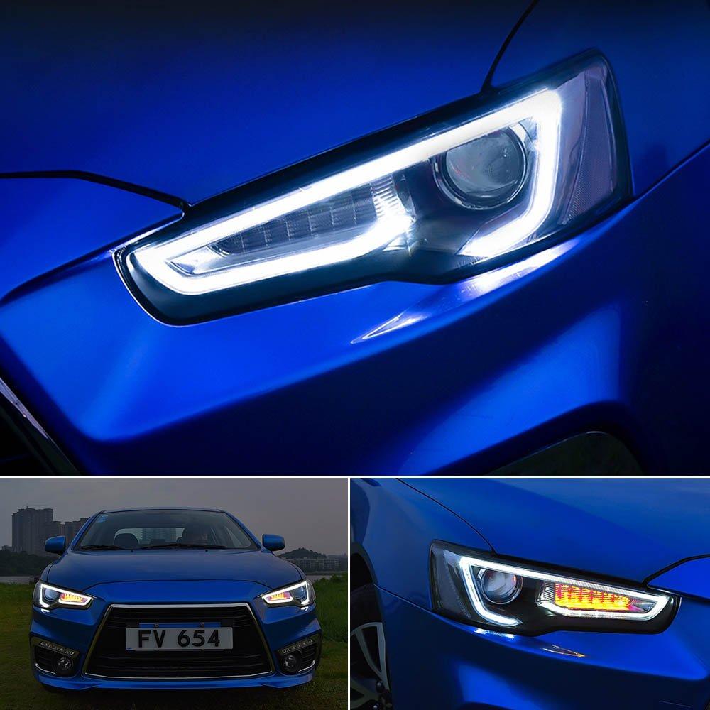 Vland Led Headlights For 2008 2017 Mitsubishi Lancer Evo X Wiring Diagram Head Lamp Audi Style Automotive