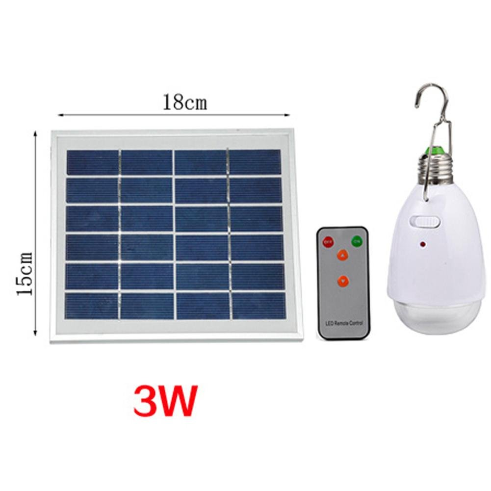 DMMSS Outdoor Remote Control Solar Led Indoor Lights Outdoor Camping Solar Fluorescent Lamp Emergency Lamp Light USB Charge, 3W (9-20 Hours)