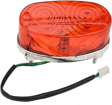HIAORS LED Rear Tail Brake Light for 50 cc 70CC 90 cc 110cc 125 cc Taotao SunL JCL Coolster Roketa Kazuma Chinese ATVs Quad 4 Wheeler