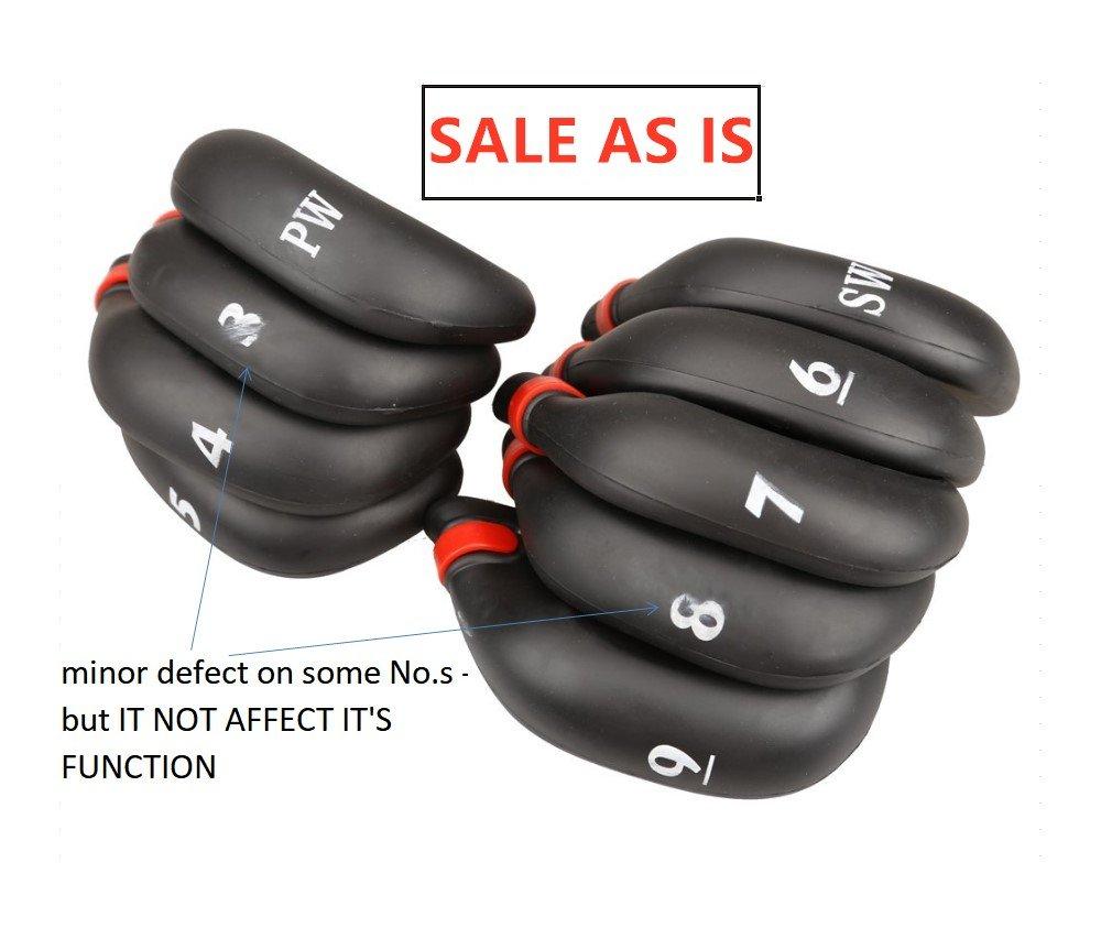 9ピース/セットh12-rゴルフラバークラブアイアンパターヘッドカバー – Sale As Is B07D32PTG8