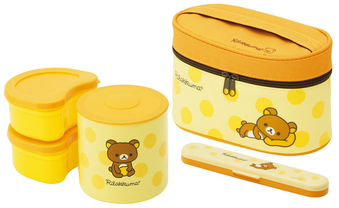 Thermos Bottle and Lunch Box 560ml Rilakkuma dot by Skater by Skater