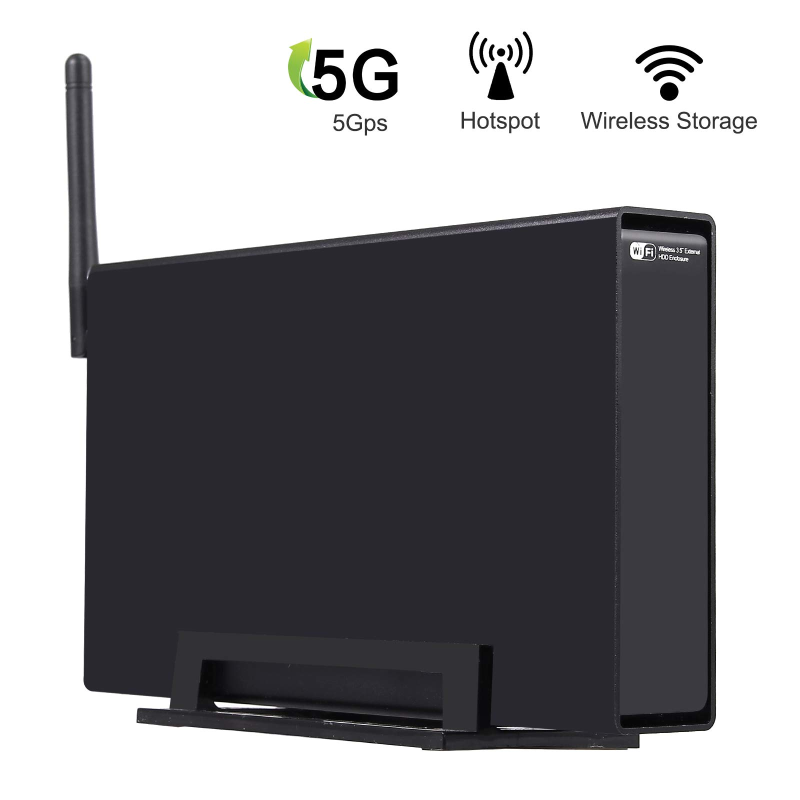 LiNKFOR NAS Station Private Cloud Network Attached Storage 1 Bay USB 3.0 to Sata 6TB with WiFi HDD Enclosure case 3.5 inch with 300M Wireless WiFi Router (NOT Including The Hard Disk)