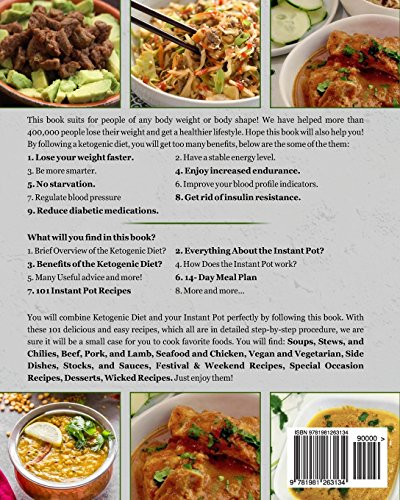 Keto Diet Instant Pot Cookbook: For Rapid Weight Loss And A Better lifestyle- Top 101 Quick, Easy & Delicious Low Carb Ketogenic Diet Instant Pot ... Meal Plan) (Ketogenic Diet Healthy Cooking) - smallkitchenideas.us