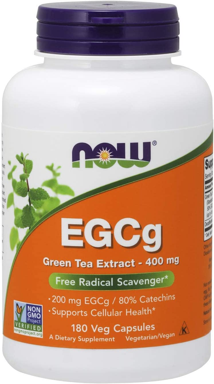 NOW Supplements, EGCg Green Tea Extract 400 mg, Free Radical Scavenger*, 180 Veg Capsules: Health & Personal Care