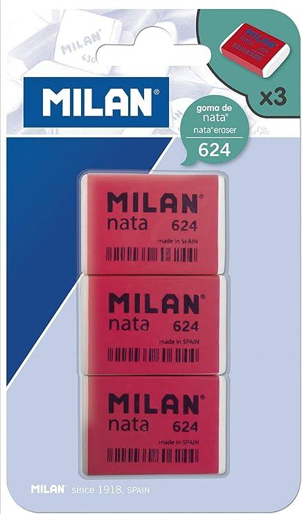 Milan BPM9205 - Pack de 3 gomas de borrar: Amazon.es: Hogar