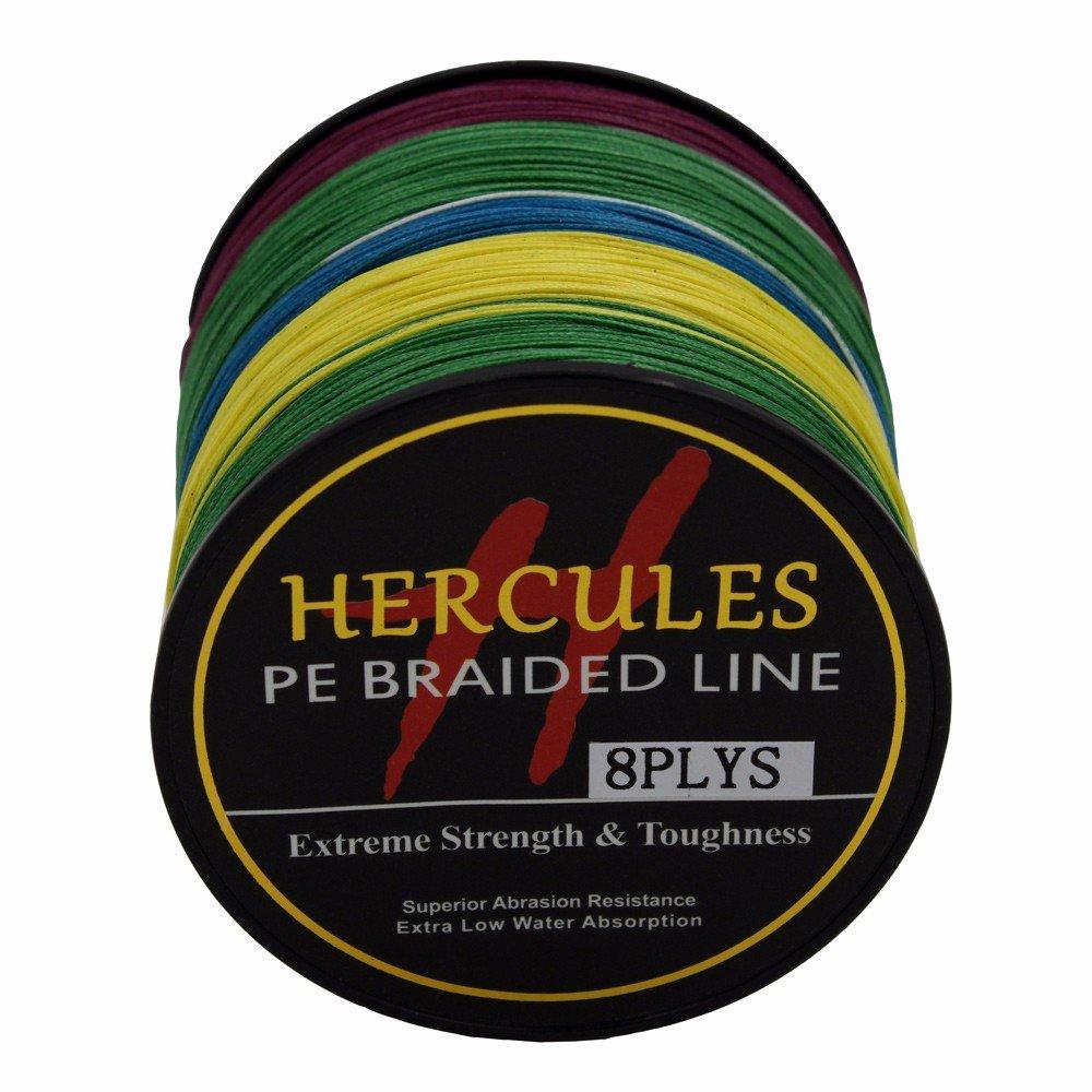 2,7/10lb-300lb 8-fach 300/m Hercules PE Dyneema Superline geflochtene Angelschnur