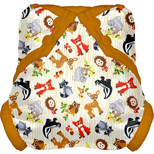 Tidy Tots Diapers Hassle Free Snap Diaper Cover (Forest Friends)